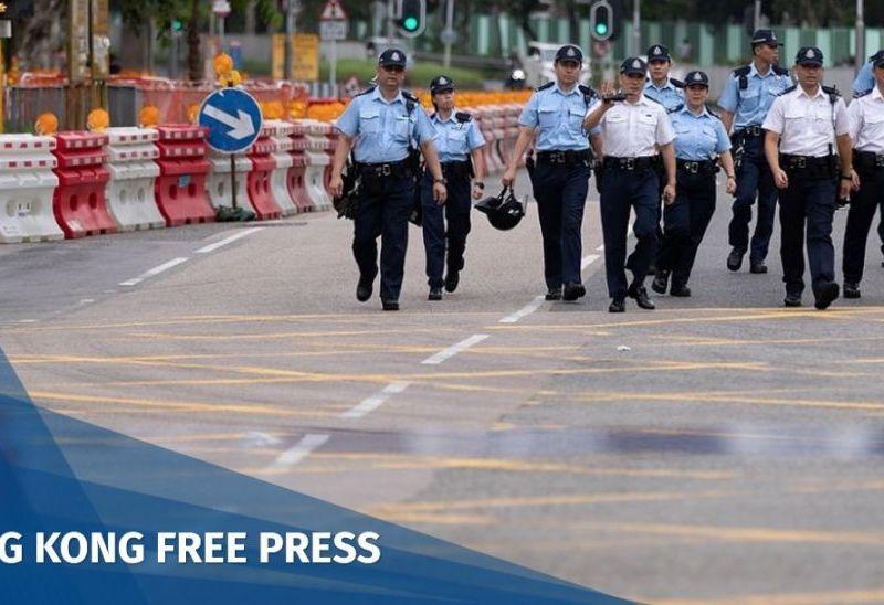 Sha Tin protest police finger