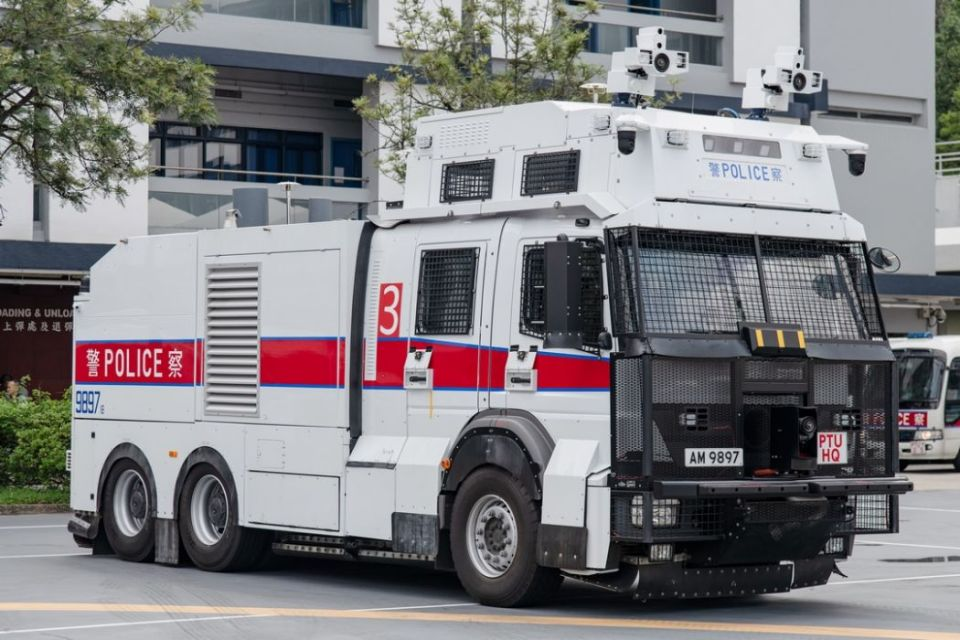 water cannon police