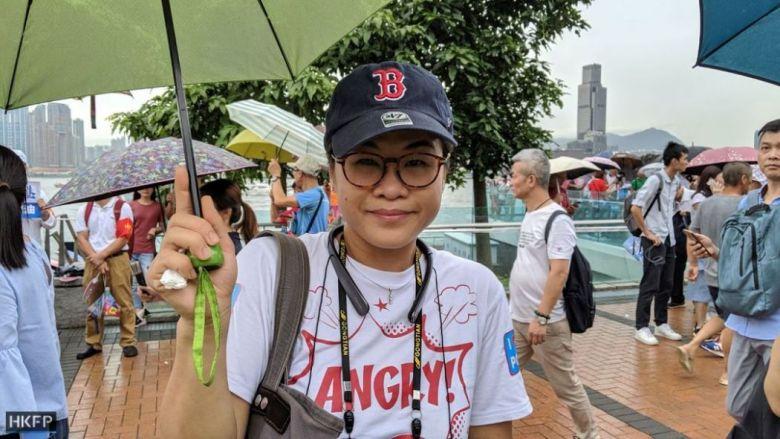 August 17 Suki Sin pro-police rally Tamar park admiralty