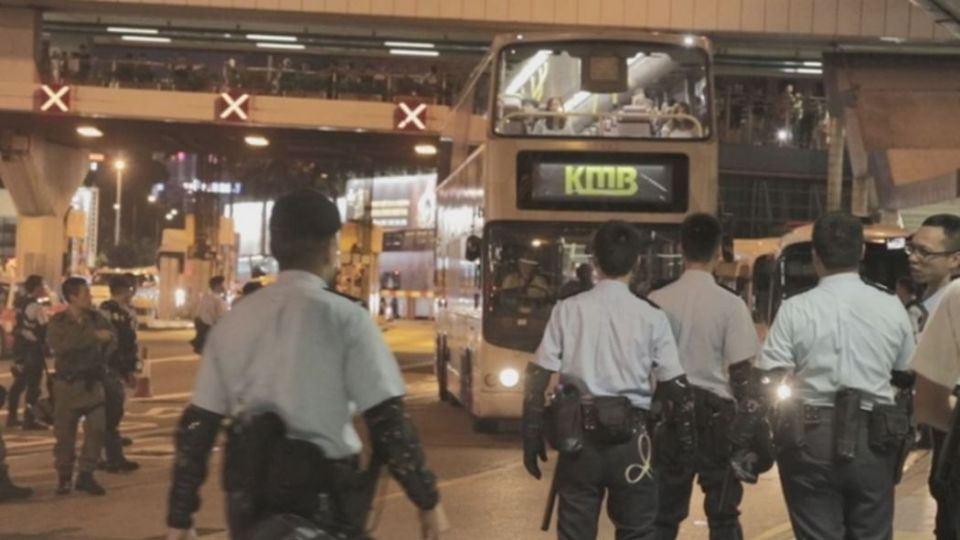 september 28 police china extradition bus hung hom
