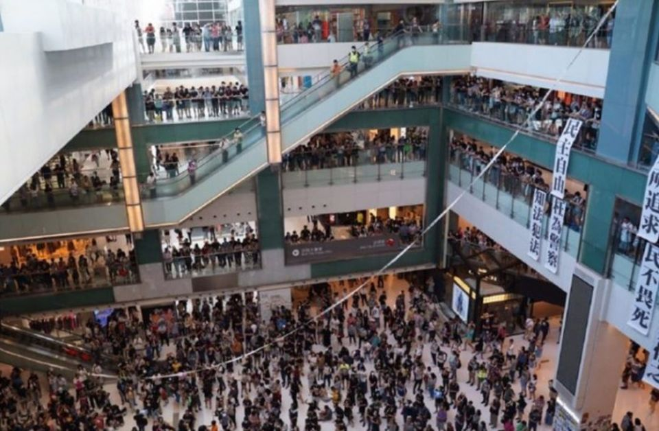 shatin new town plaza maxim's protest