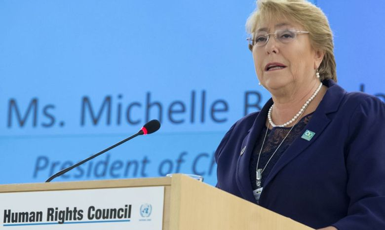 UN human rights chief Michelle Bachelet