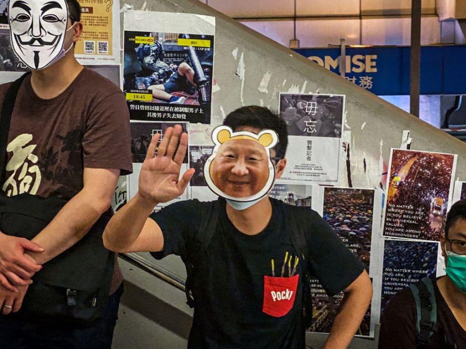 October 18 human chain mask ban china extradition