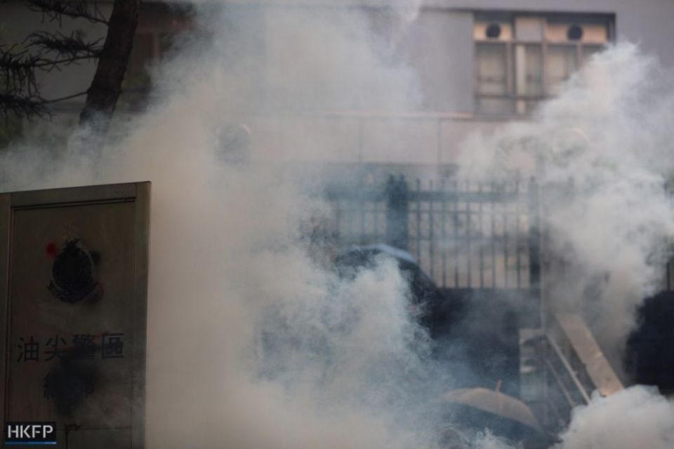 october 20 kowloon tear gas