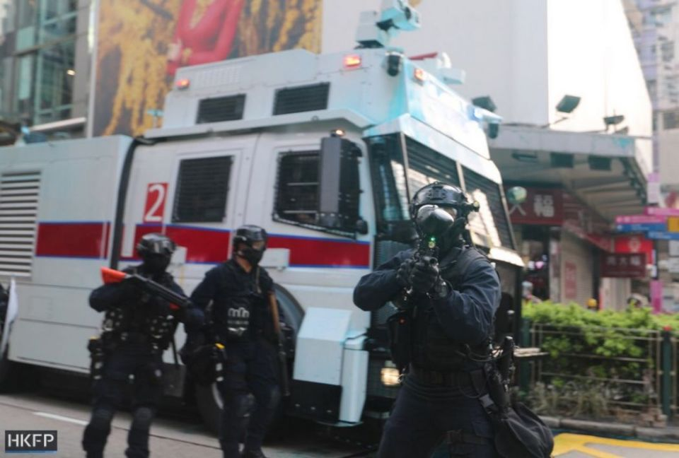 water cannon october 20