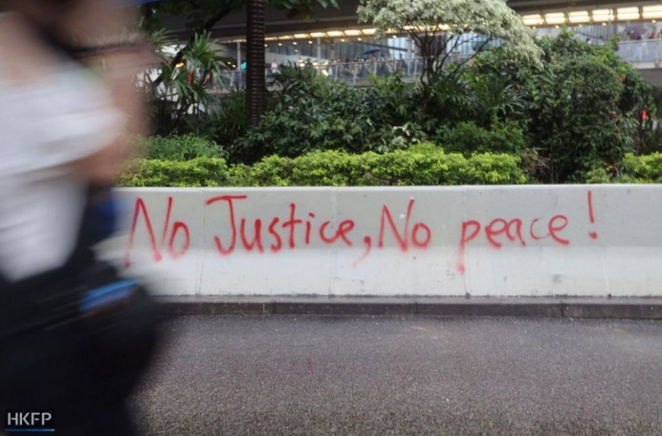 justice peace graffiti october 6 protest