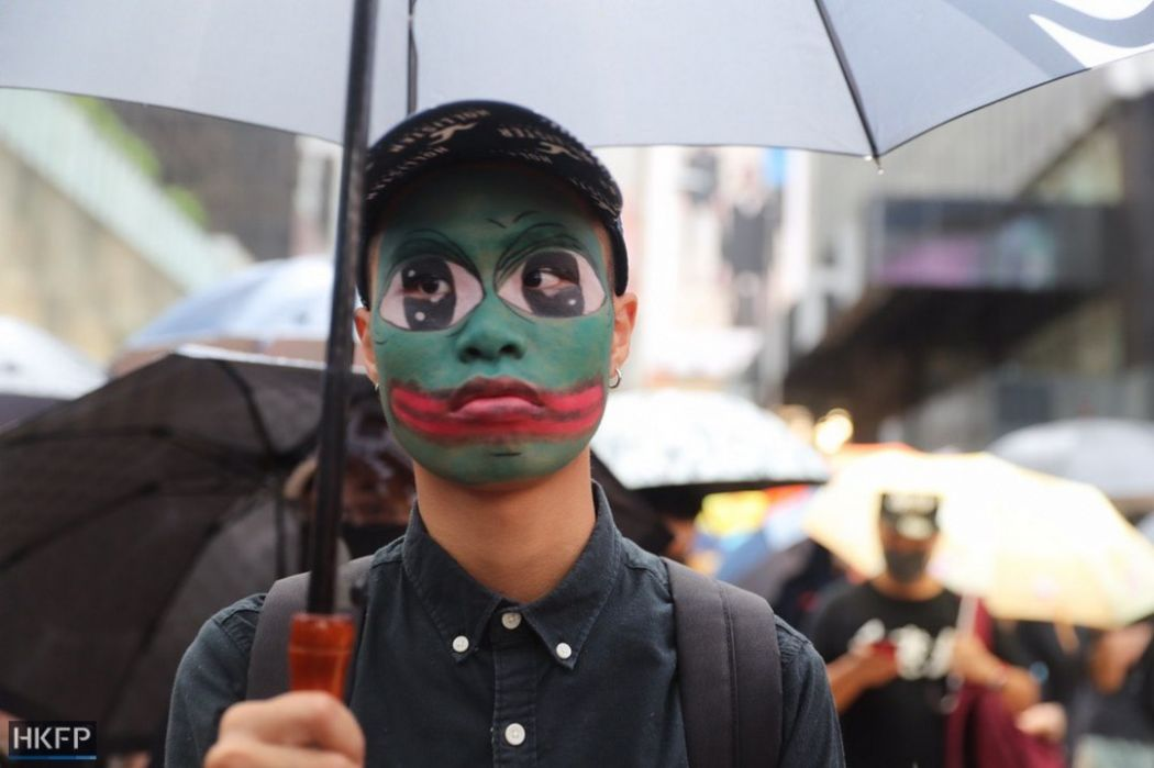 october 6 protest mask pepe