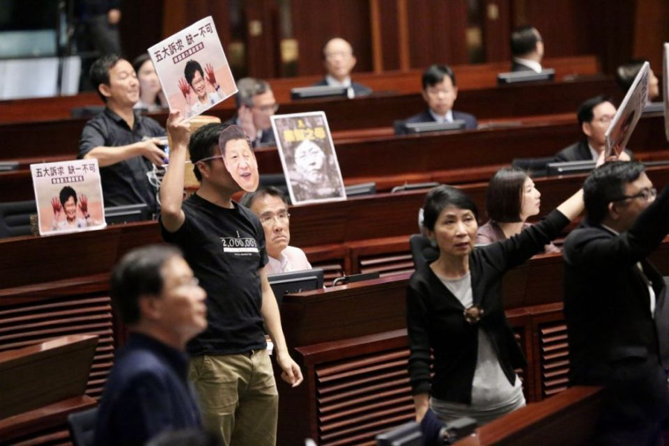 October 16 LegCo policy address protest