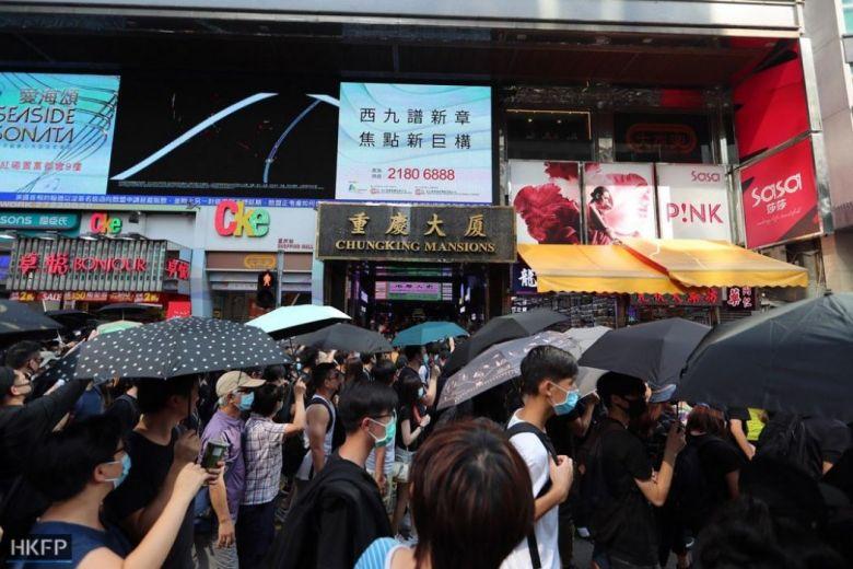 Chungking Mansions October 20 Tsim Sha Tsui protest anti-mask law