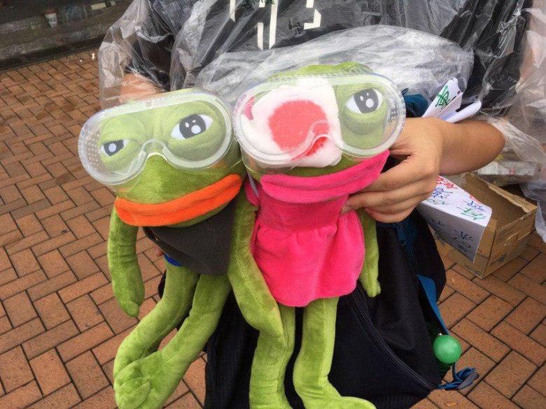 Pepe the frog Hong Kong protests
