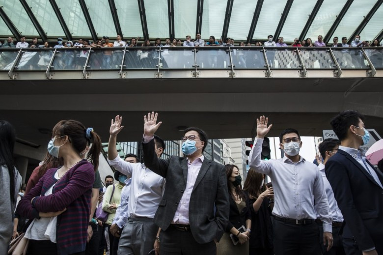 Hong Kong white-collar workers Central protests