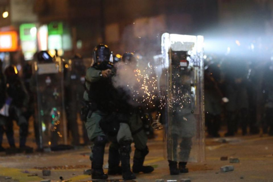 tear gas Yau Ma Tei november 18