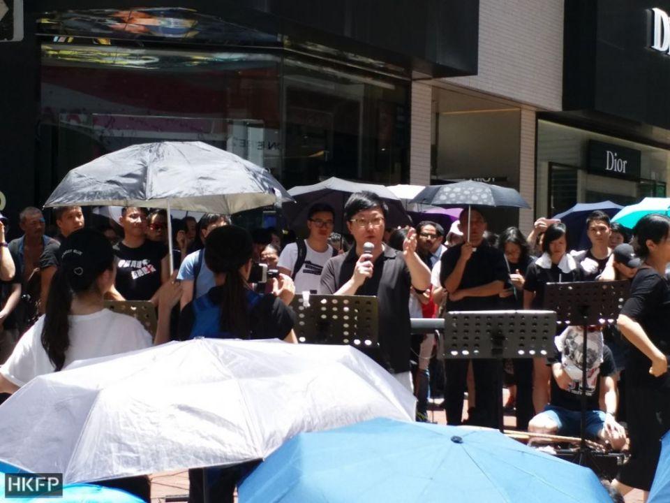 A street prayer meeting in Causeway Bay