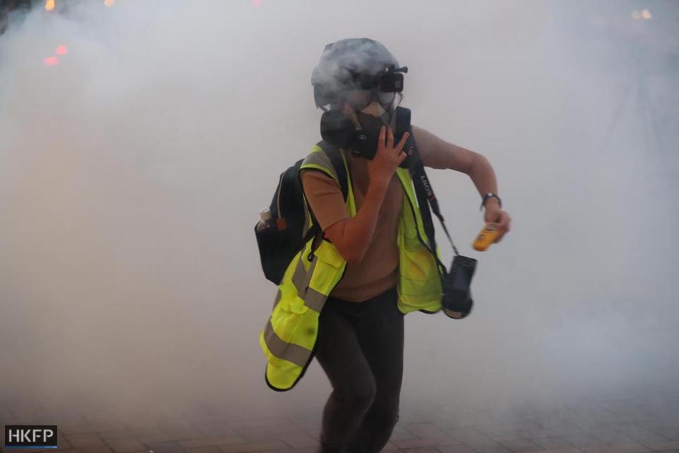 """""""November 10"""" Tsuen Wan shopping tear gas protest"""