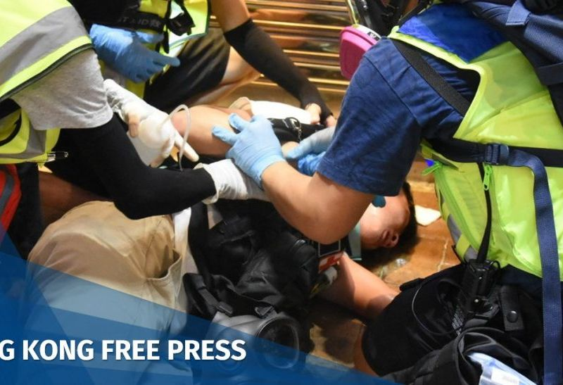 "Shue Yan University student first-aider injured ""November 2"""