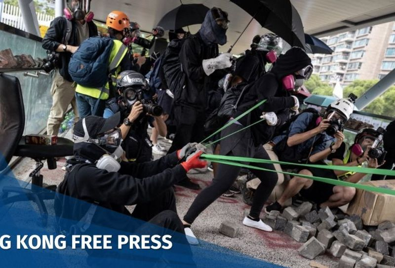 "Hong Kong protesters catapult ""November 12"""