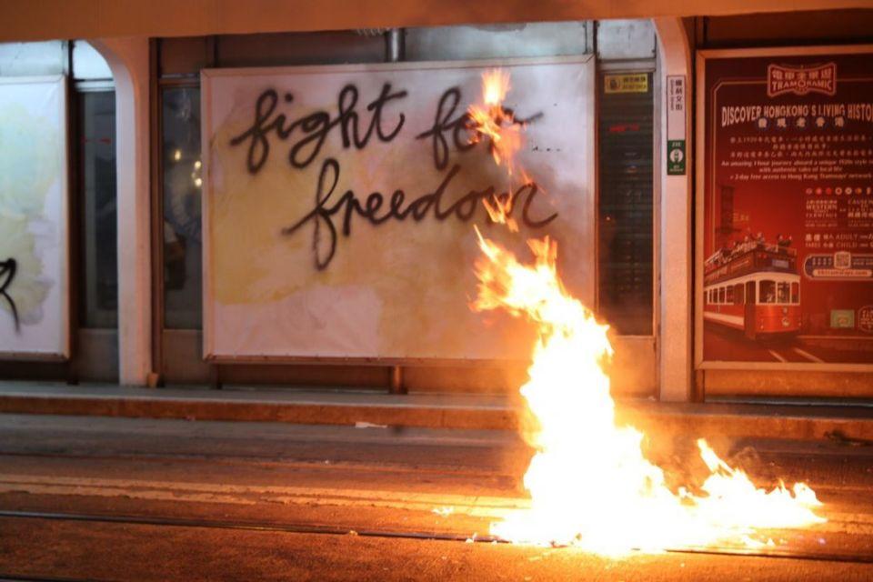 fight for freedom graffiti november 2 island