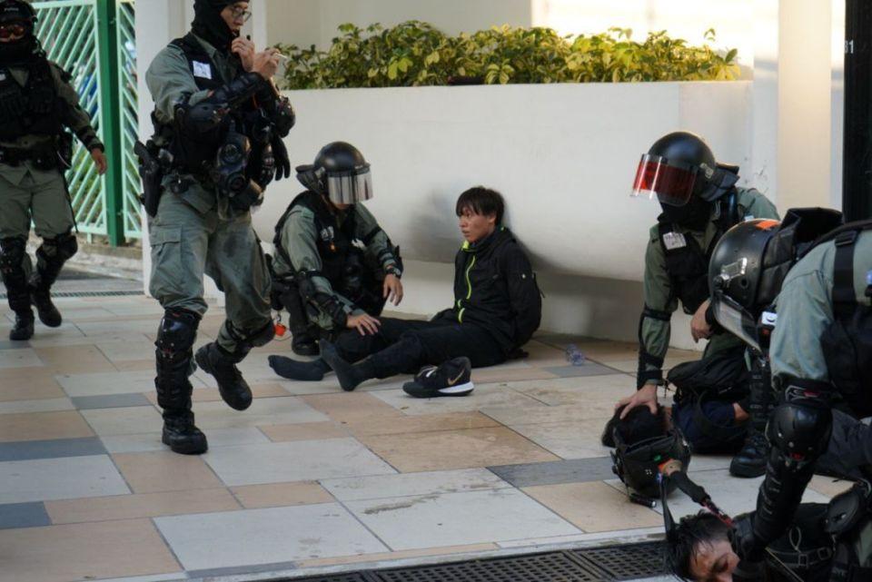 """November 10"" Sha Tin arrest protest shopping day New Town Plaza"