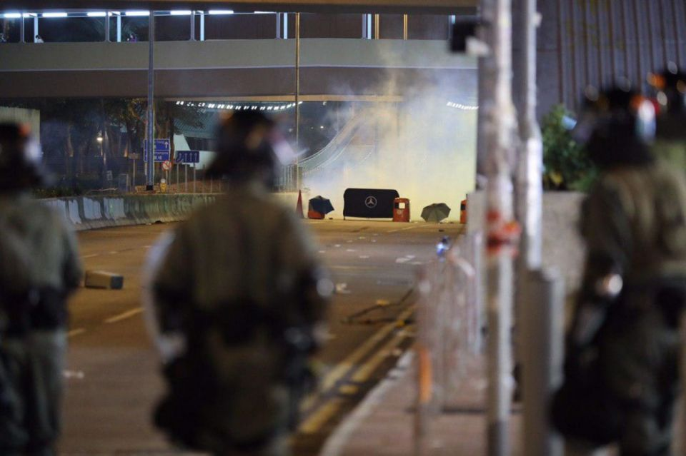 """December 1"" Whampoa Hong Kong police protester streets tear gas"