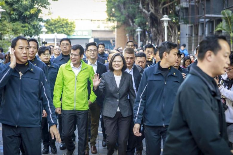 Hsiulang Elementary School Tsai Ing-wen casts vote Taiwan president election January 11