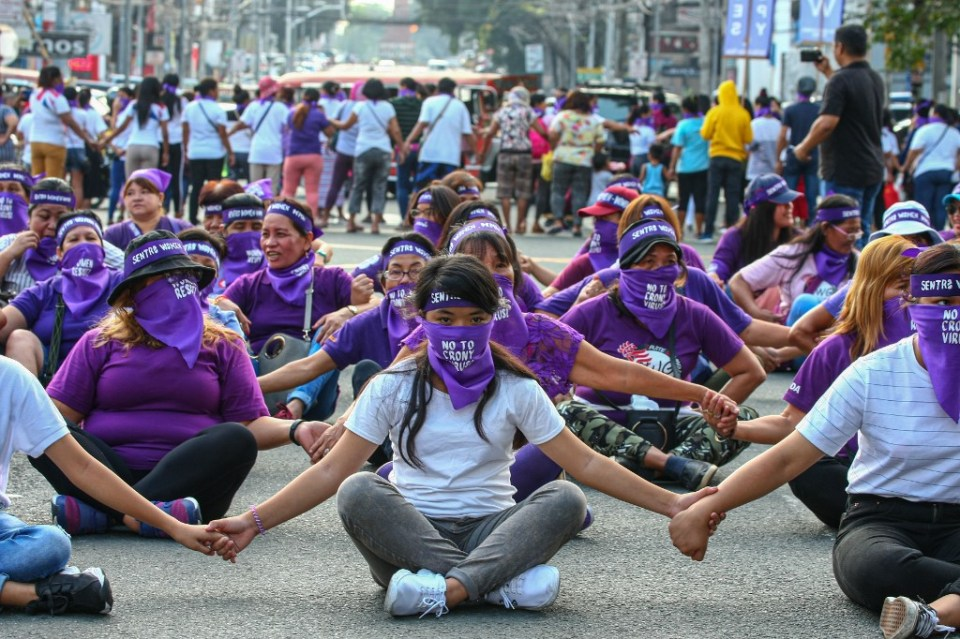 PHILIPPINES-WOMEN'S-DAY-PROTEST
