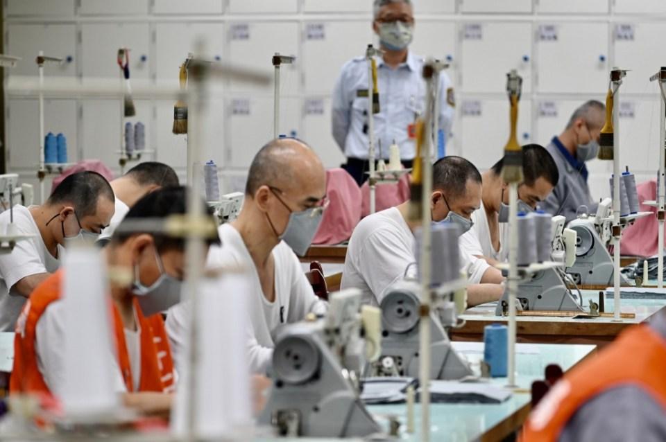 Taiwan China prisoners coronavirus face mask COVID-19