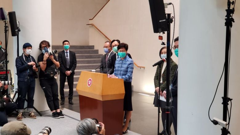 carrie lam virus mask coronavirus