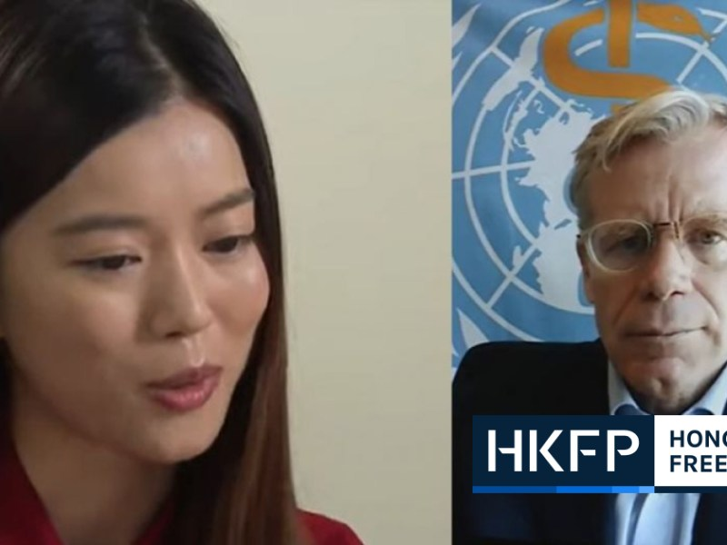 World Health Organization's assistant director general Bruce Aylward
