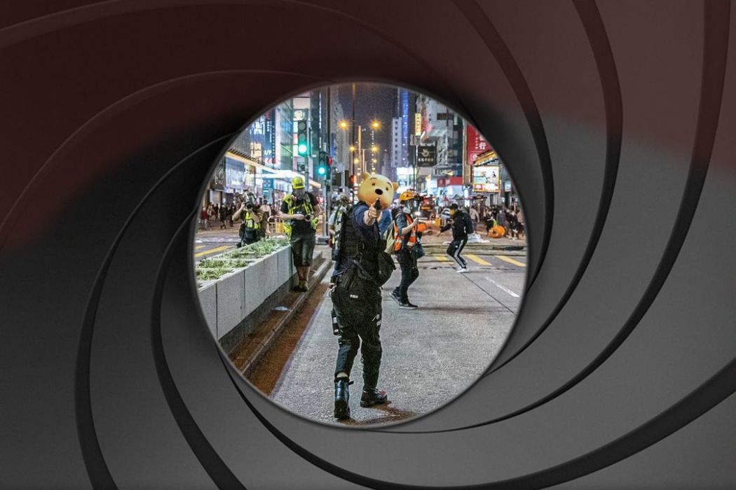 photoshop mong kok police gun