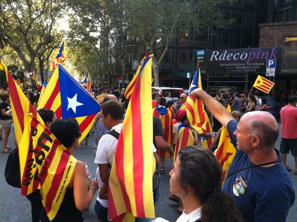 Catalan independence protest 2012