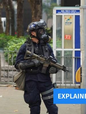 Hong Kong police rifle
