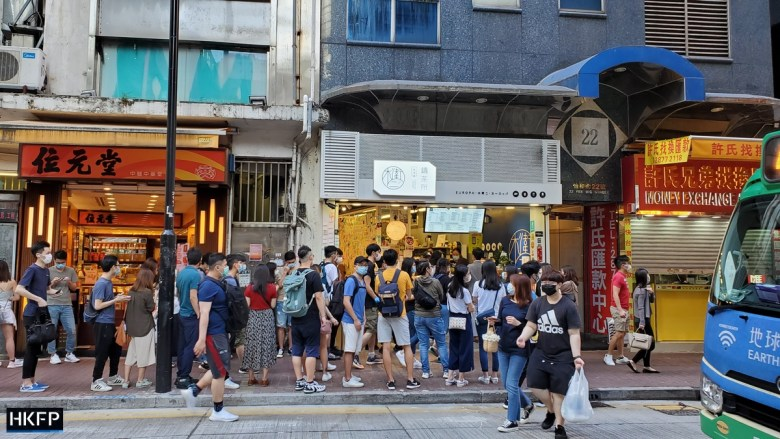 "hongkongers' golden week yellow shop queue ""May 1 2020"""