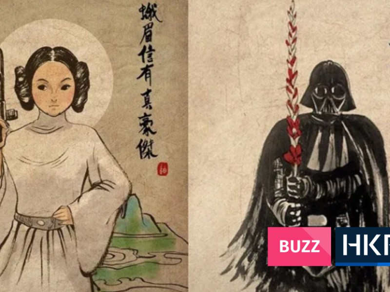 star wars as chinese paintings