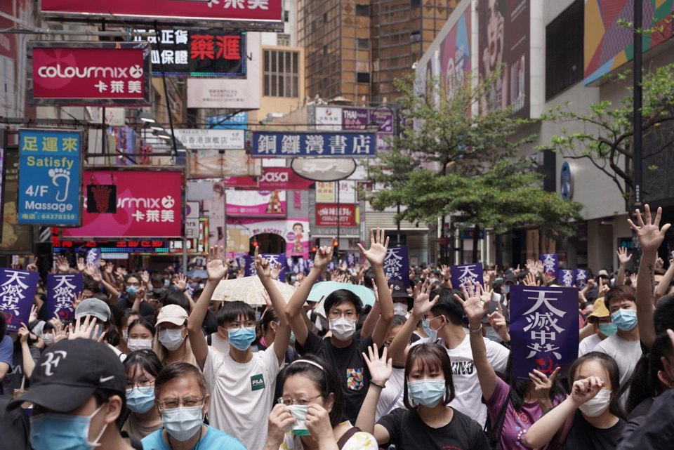 Causeway Bay prtotest May 24 national security
