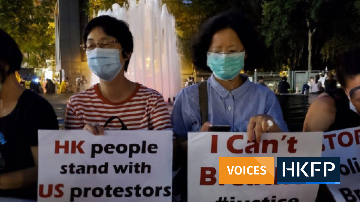 promise li george floyd hong kong protest solidarity