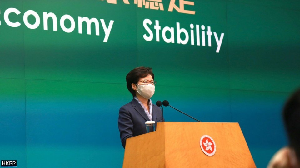 Hong Kong Chief Executive Carrie Lam weekly press conference June 9 2020