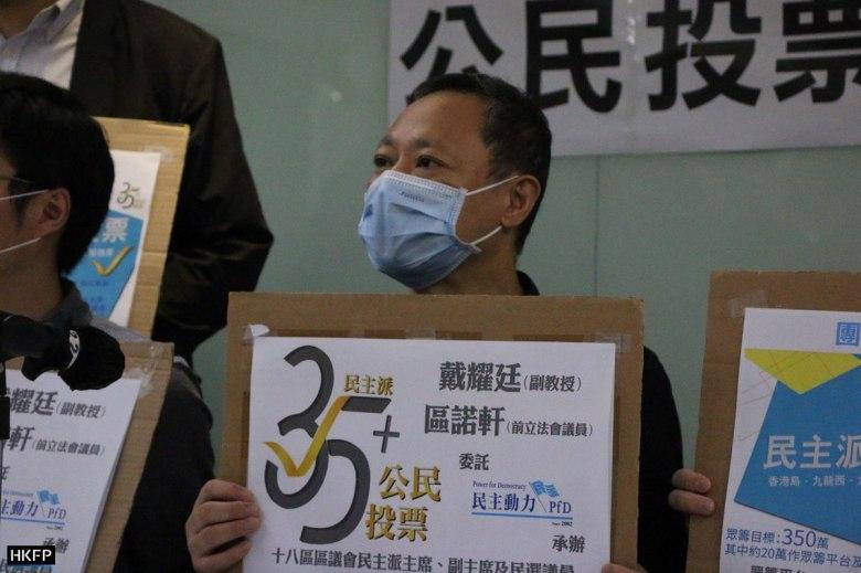democrats pro democracy 35+ legco legislative council primary election 2020 september au nok hin andrew chiu benny tai