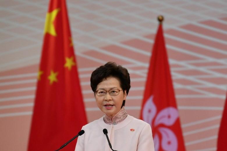 Hong Kong China handover July 1, 2020 Carrie Lam