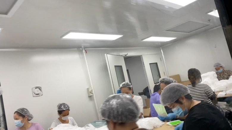 masks processing unhygienic