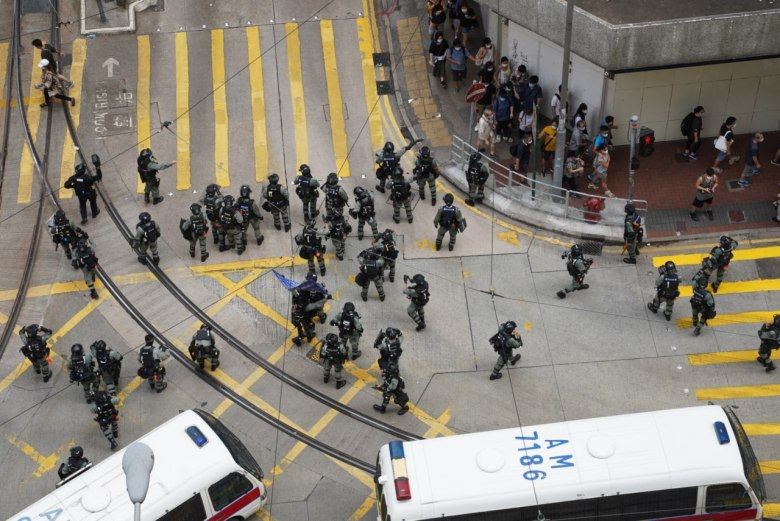 police protesters causeway bay 1 July 2020
