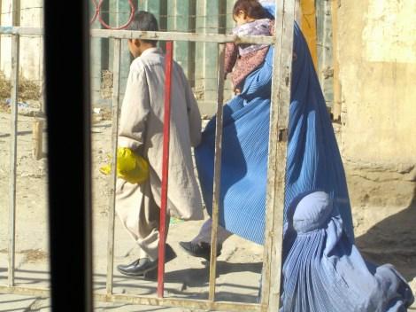 Burka-clad beggar, Kabul