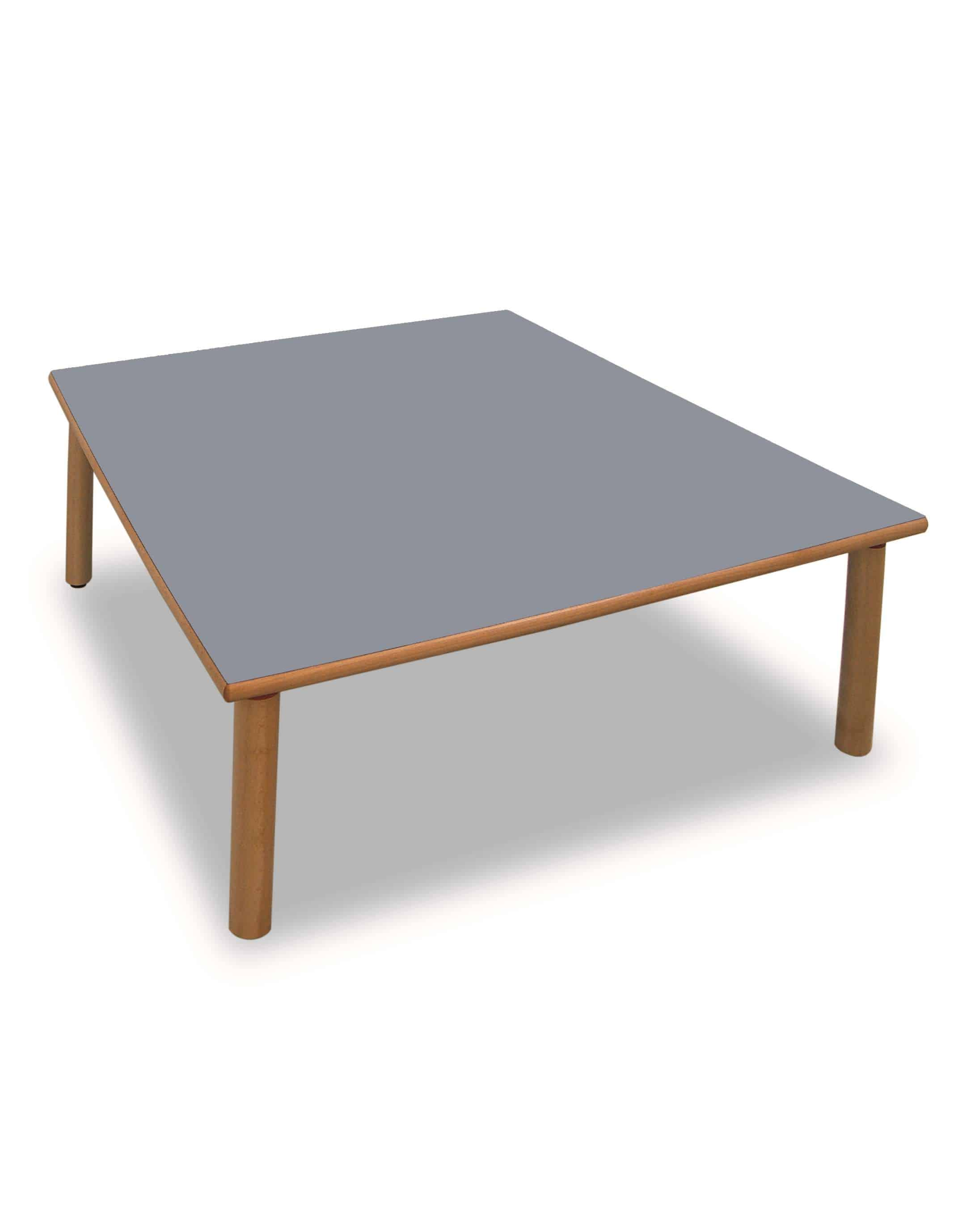 table carree en bois 130 x 130 cm