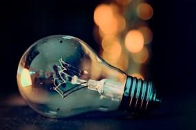 Glühbirne als Zeichen, dass ich nichts bereue