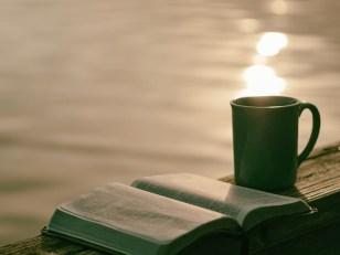 heißer Tee und ein Buch am Morgen machen glücklicher