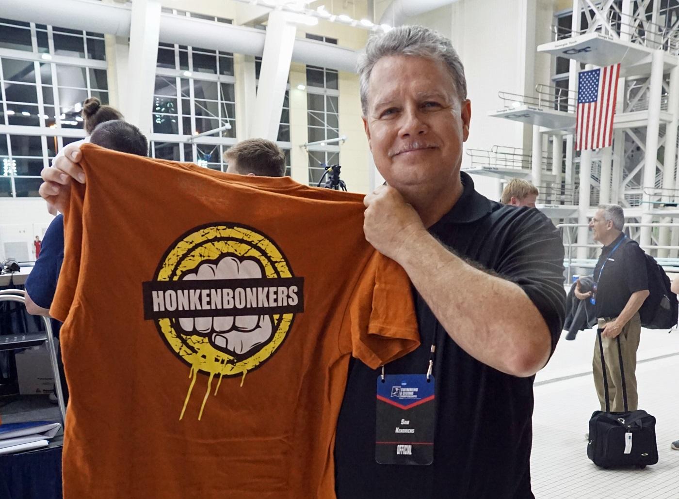 Swim Meet Announcer is Honkenbonkers!