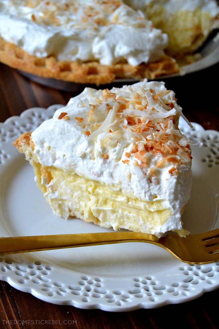STYLECASTER | 17 Classic Pie Recipes That Deserve a Spot on Your Holiday Spread | Coconut Cream Pie