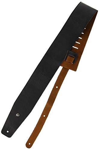 Jim Dunlop (ジム ダンロップ) BMF Leather Strap レザー ギターストラップ 3.5 Black/Natural