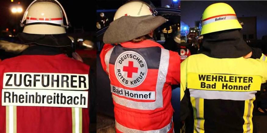 Gemeinsame Uebung 8 1 - Rettungskräfte Rheinbreitbach und Bad Honnef: Gemeinsam sind wir stark