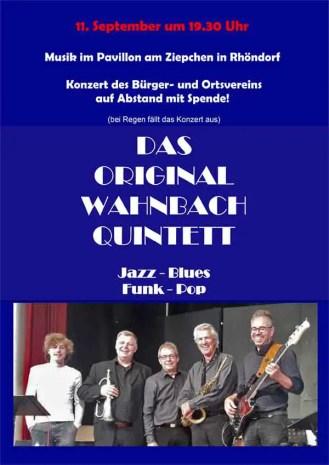 Plakat Wahnbach Entwurf - Heyer und Nellessen küssen den Musikpavillon wach