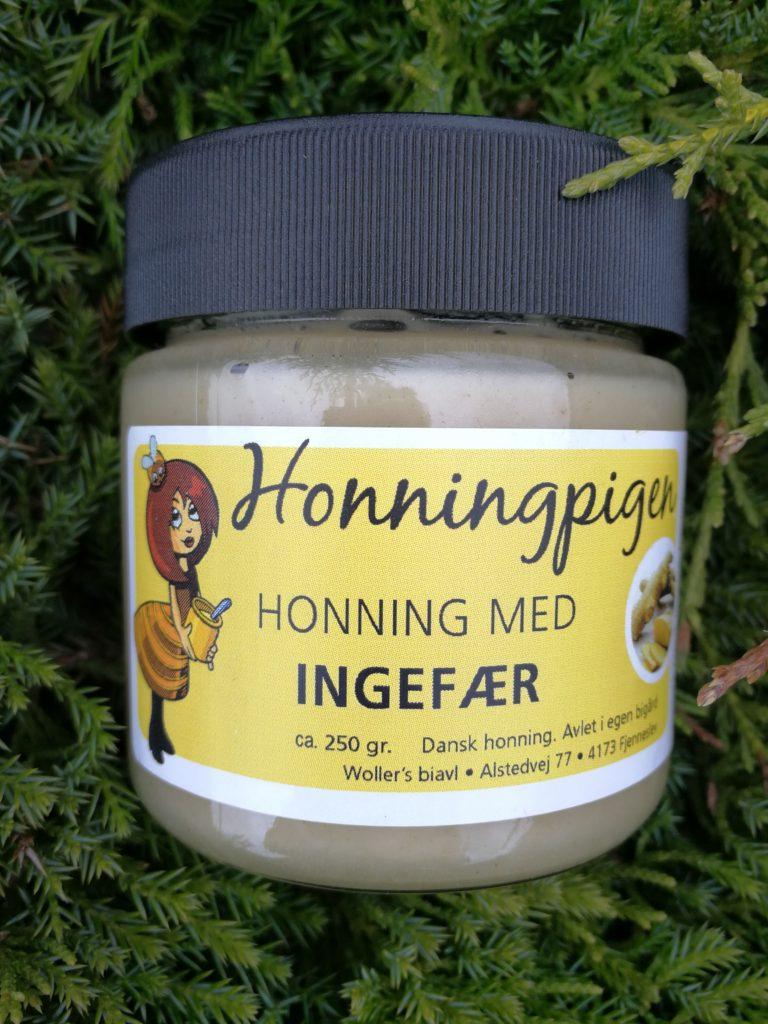 Honning med ingefær fra Honningpigen